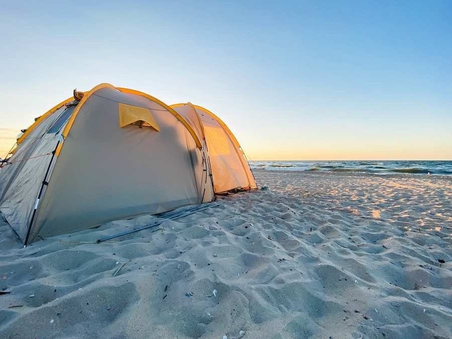 How Do You Secure A Tent On The Beach