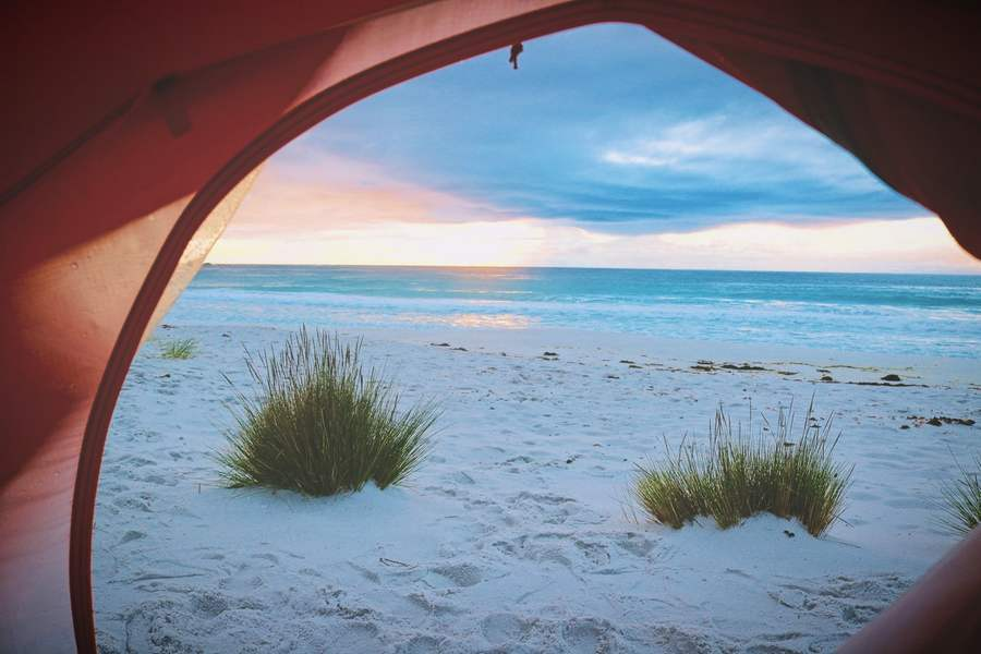 How To Put Up A Tent On The Beach